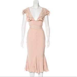 Zac Posen blush mid length dress. Size 2